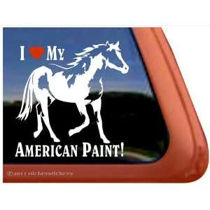 I Love My American Paint Horse Trailer Vinyl Window Decal